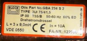 Трансформатор GBA234S2 OTIS
