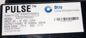 Блок контроля AAC21700AG3 OTIS