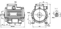 Электродвигатель АИС-71А8НЛУ3 лапы