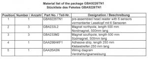 Блок датчиков системы позиционирования PRS OTIS GAA9226TN1