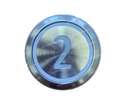 "Кнопка ""2"" круглая  KONE KM863233H03"