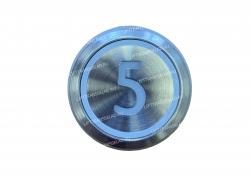 "Кнопка ""5"" круглая  KONE KM863233H03"