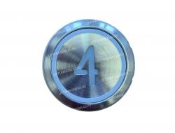 "Кнопка ""4"" круглая  KONE KM863233H03"