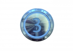 "Кнопка ""3"" круглая  KONE KM863233H03"