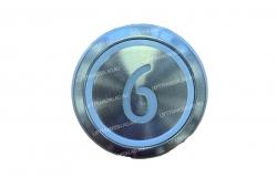 "Кнопка ""6"" круглая  KONE KM863233H03"