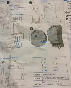 Модульный контактор 25А 4х полюсной 22.34.0120.4620