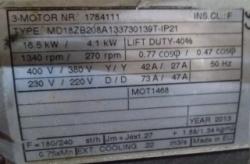 Двигатель тип MD18ZB208A133730139T IP21
